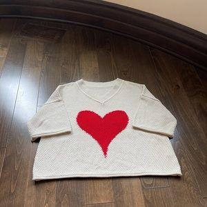 Beautiful Heart ❤️ Sweater Size Large